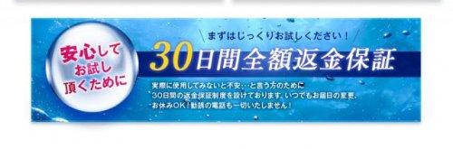 30日間全額返金保証の説明文