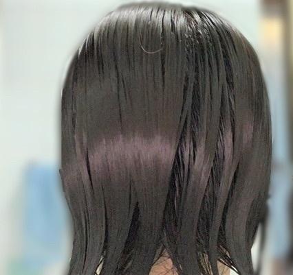 My BOTANISTのトリートメント中の髪
